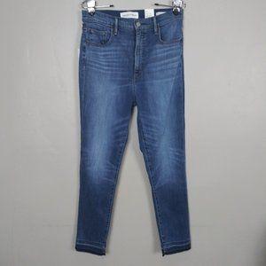 Denim Forum The Lola High Rise Skinny Crop Jeans